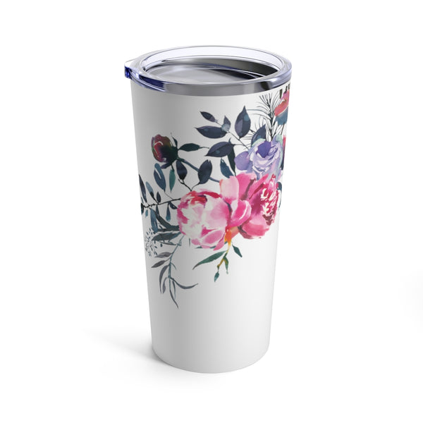 Dusty Floral Floral Travel Tumbler 20oz