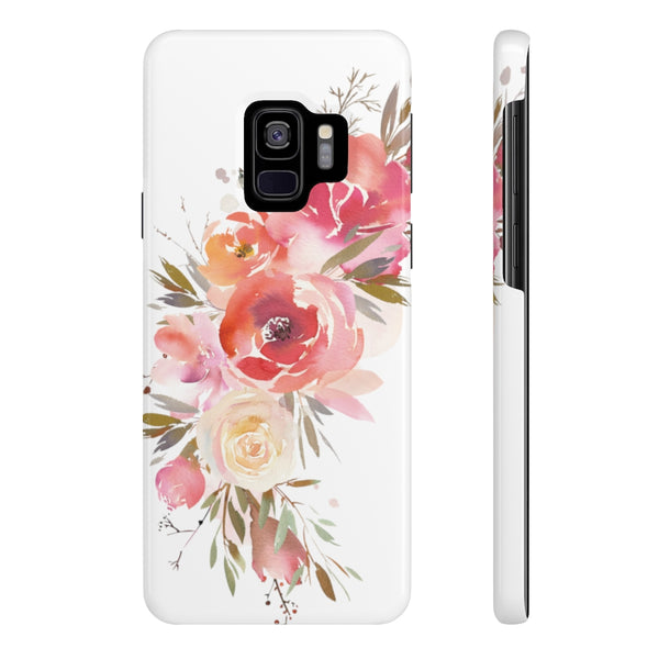 Peach Floral Case Mate Slim Phone Cases