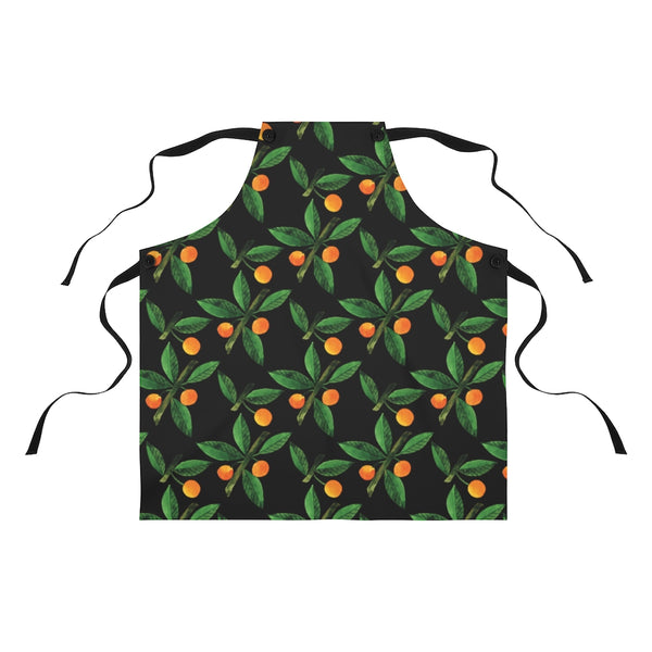 Oranges on Black Apron