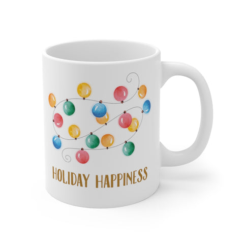 Holiday Happiness is String Lights 11oz Mugs