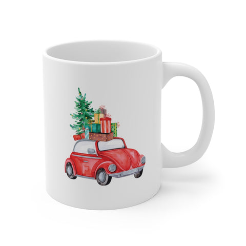 Bringing Home the Tree Holiday 11oz Mugs