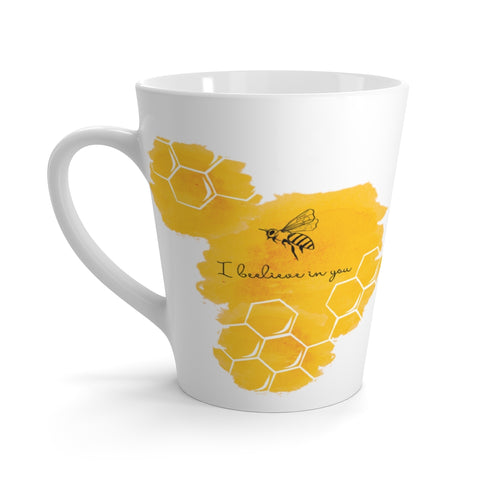 I Beelieve in You Latte mug