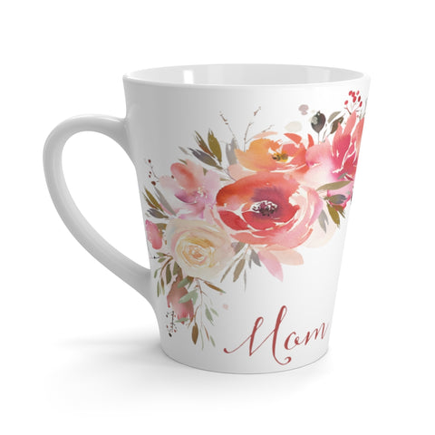 Peachy Floral Mom Latte Mug