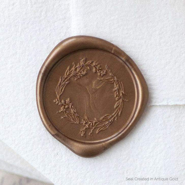 Garden Wreath Wax Stamper