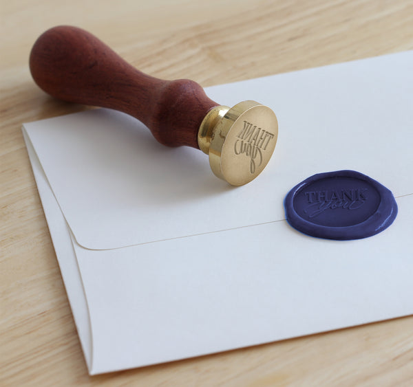 Wax seal that says thank you
