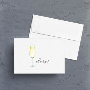 Cheers! Champagne Toast Note Card