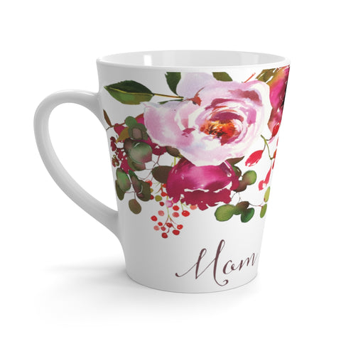 Floral Mom Latte Mug Bright Pinks