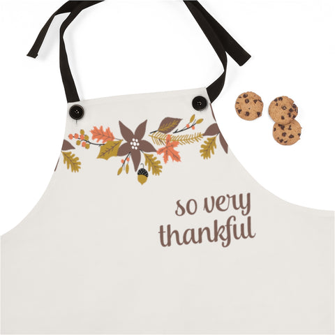 So Very Thankful Fall Floral Apron