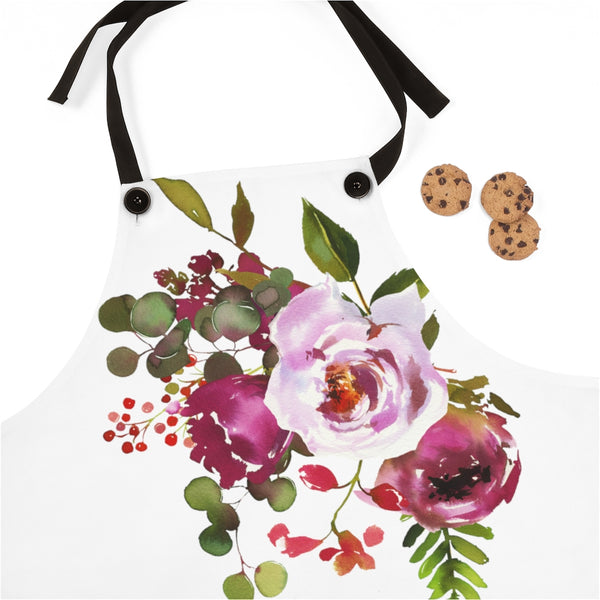 Bright Pink Floral Apron