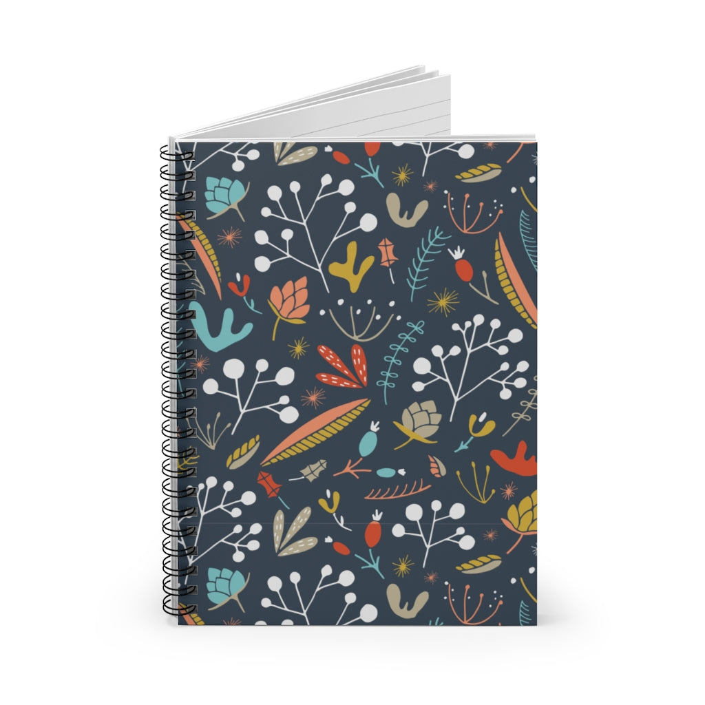 Dusty Jeweltone Spiral Notebook - Ruled Line