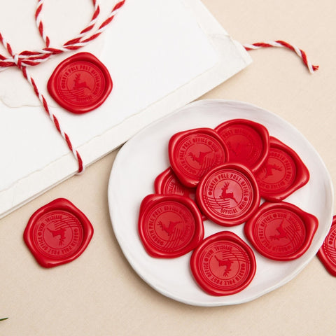 North Pole Post Wax Seals - 25 Pack