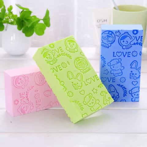 Bath Sponge Lace Printed Dead Skin Remover Exfoliating Massager For Kids And Adults