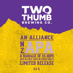 An Alliance NZ American Pale Ale