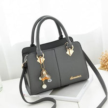 Load image into Gallery viewer, PU Leather Handbag with Flower Pendant - Available in Multiple Colours