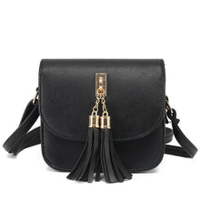 Load image into Gallery viewer, Mini PU Leather Cross-Body Bag with Tassel Pendant - Available in Multiple Colours