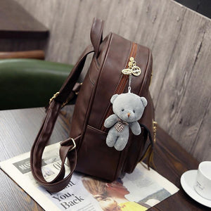 PU Leather Set of 3 with Toy Bear - Available in Multiple Colours