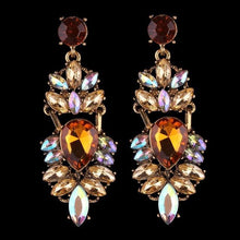 Load image into Gallery viewer, Crystal and Rhinestone Drop Earrings - Available in Multiple Colours