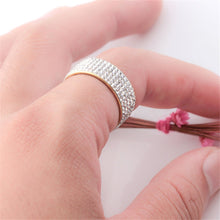 Load image into Gallery viewer, Stainless Steel Sparkling Ring with Crystals - Available in Multiple Sizes and Colours