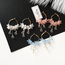Load image into Gallery viewer, Acrylic Floral Dangling Earrings - Available in Multiple Colours
