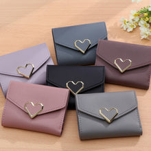 Load image into Gallery viewer, Mini Heart Shaped Hasp PU Leather Purse