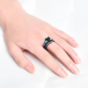 Black Heart Shaped Ring - Available in Multiple Sizes and Colours