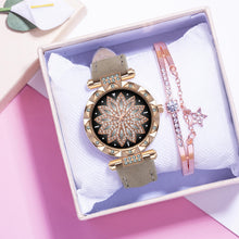 Load image into Gallery viewer, Watch and Bracelet with Star Pendant Combination - Available in Multiple Colours