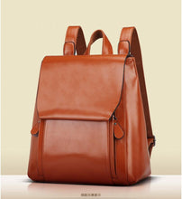 Load image into Gallery viewer, Retro PU Leather Backpack - Available in Multiple Colours