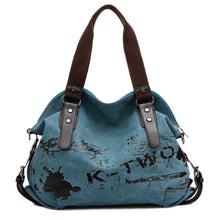 Load image into Gallery viewer, Canvas Shoulder Bag with Print - Available in Multiple Colours