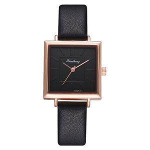 Square Dial PU Leather Strap Quartz Watch - Available in Multiple Colours