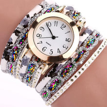 Load image into Gallery viewer, PU Leather Strap Quartz Bracelet Watch - Available in Multiple Colours