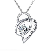 Load image into Gallery viewer, Selection of Heart Shaped Silver Necklaces