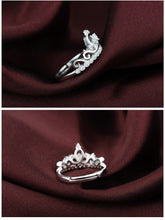 Load image into Gallery viewer, Crown Shaped Adjustable Silver Ring
