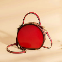 Load image into Gallery viewer, Round Shaped Genuine Leather Cross-Body Bag - Available in Multiple Colours