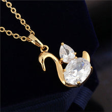 Load image into Gallery viewer, Swan Shaped Gold Necklace