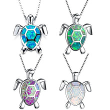 Load image into Gallery viewer, Turtle Shaped Silver Necklace - Available in Multiple Colours