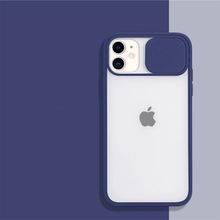 Load image into Gallery viewer, Transparent Sliding Camera Protecting iPhone Case - Available in Multiple Colours
