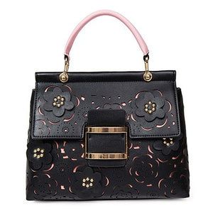 Floral PU Leather Handbag - Available in Multiple Colours