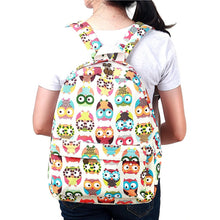 Load image into Gallery viewer, White Owl Print Backpack