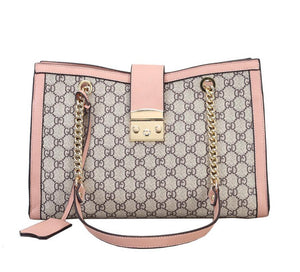 Patterned PU Leather Chain Shoulder Bag - Available in Multiple Colours