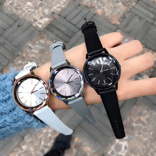 Load image into Gallery viewer, Numberless Stainless Steel Genuine Leather Strap Quartz Watch - Available in Multiple Colours