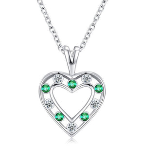 Selection of Heart Shaped Silver Necklaces