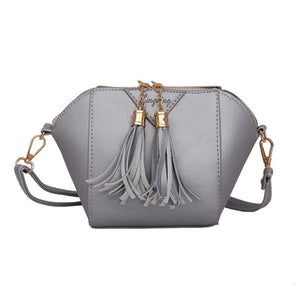 Mini Tasseled PU Leather Cross-Body Bag - Available in Multiple Colours