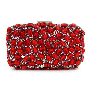 Sparkling Crystal Patterned Evening Clutch - Available in Multiple Colours