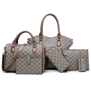 Patterned PU Leather Set of 6 - Available in Multiple Colours