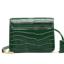 Load image into Gallery viewer, Crocodile Patterned Split Leather Crossbody Bag - Available in Multiple Colours