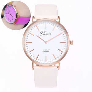 Colour Changing PU Leather Strap Quartz Watch - Available in Multiple Colours