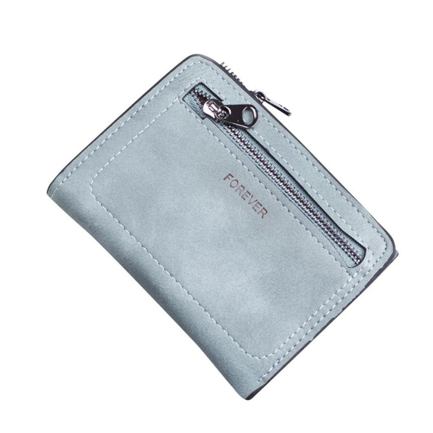 Mini PU Leather Purse with Zip Pocket