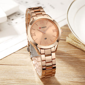 CURREN Stainless Steel Metal Strap Quartz Watch - Available in Multiple Colours