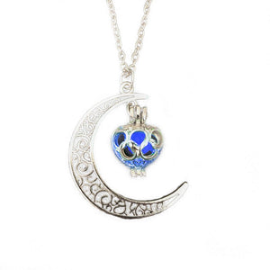 Luminous Hollowed Crescent Necklace - Available in Multiple Colours