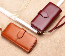 Load image into Gallery viewer, Genuine Leather Purse With Strap